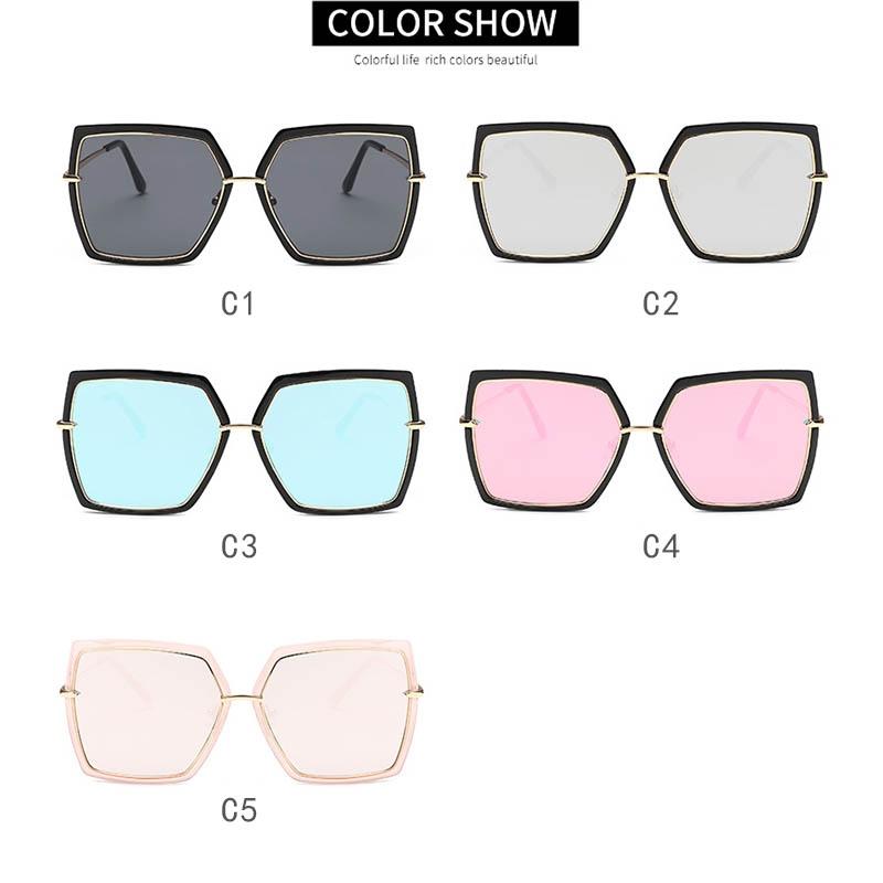 Крупные солнцезащитные очки-бабочки с зеркальной линзой и металлической переносицей (в наличии черная оправа серебряное зеркало) - 3
