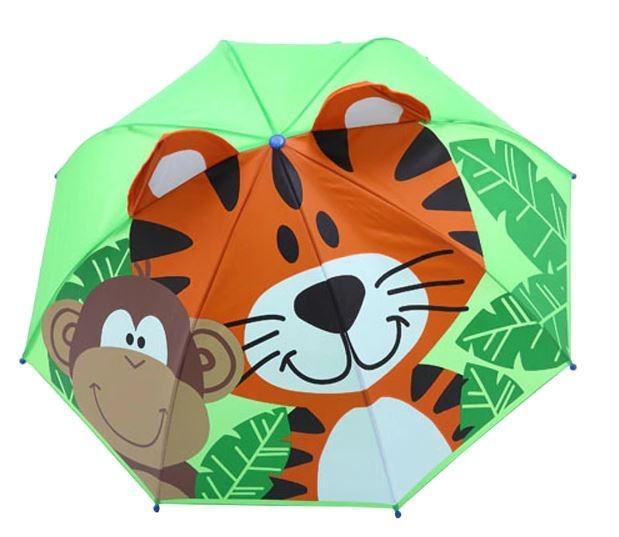 Детский 3D зонт-трость с мультяшными героями и зверушками - 8