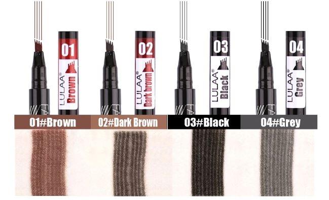 Стойкий тату-карандаш для бровей со специальной щеточкой LULAA  - 1