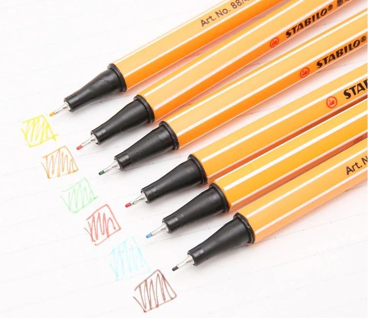 Художественная каппилярная ручка-лайнер STABILO Point 88 Fineliner - 4