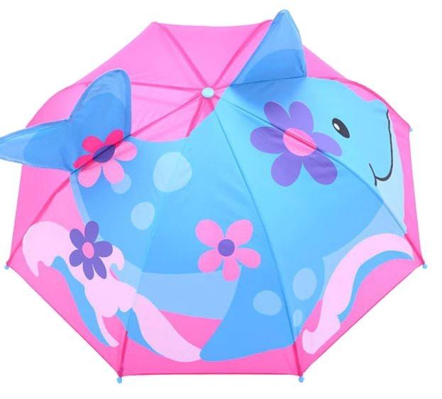 Детский 3D зонт-трость с мультяшными героями и зверушками - 3