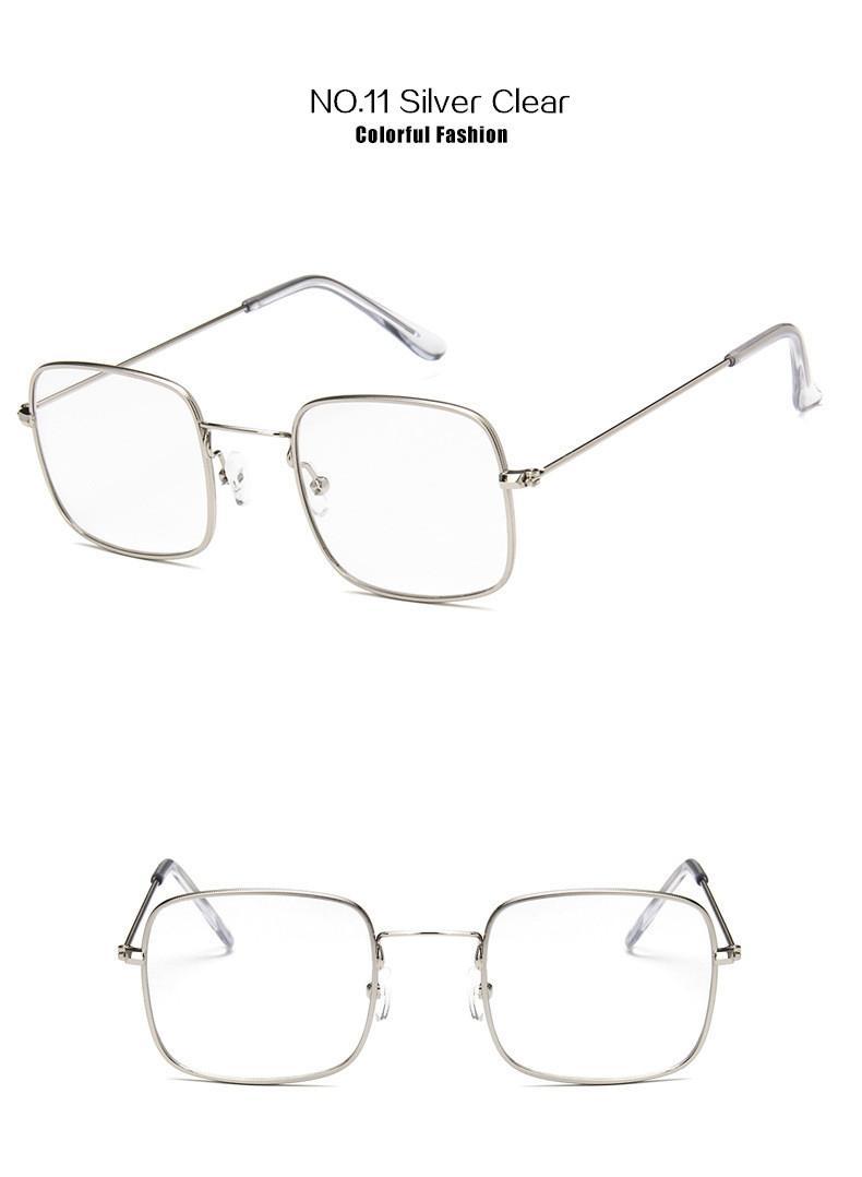 Солнцезащитные очки-прямоугольники с тонкой металлической оправой (в наличии зеленые) - 12