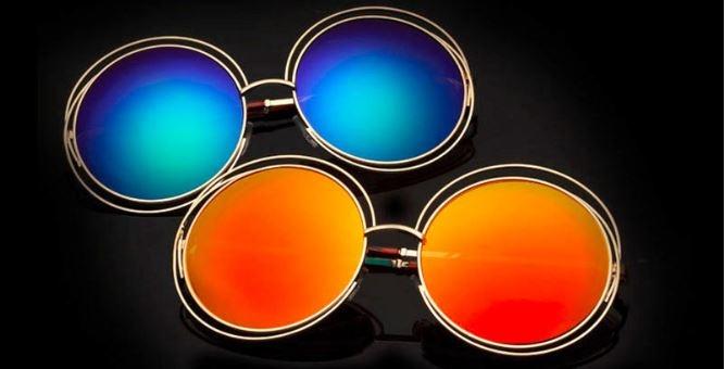 Крупные круглые солнцезащитные очки с тонкой обмоткой вокруг линз - 2