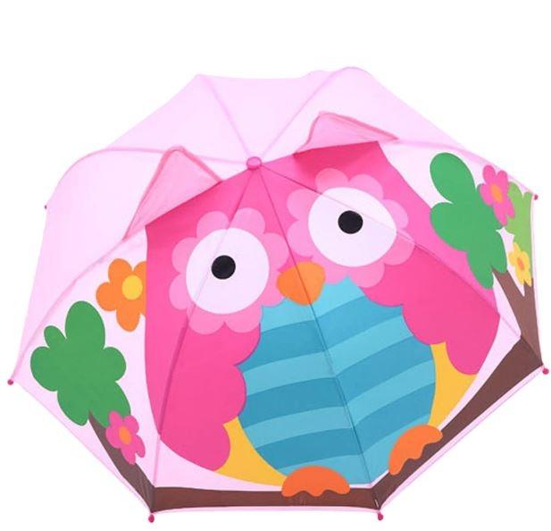 Детский 3D зонт-трость с мультяшными героями и зверушками - 5