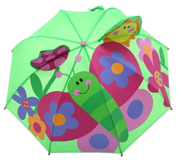Детский 3D зонт-трость с мультяшными героями и зверушками - 6