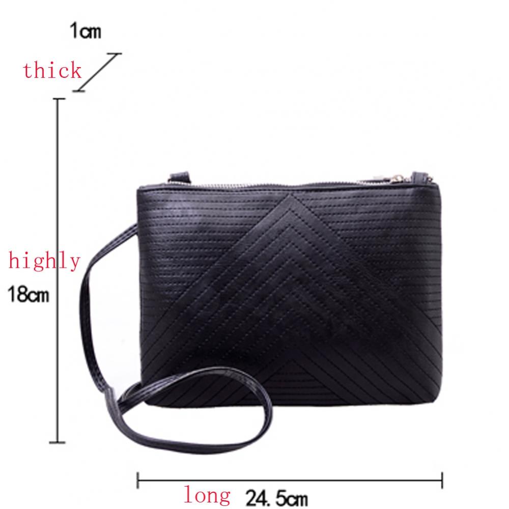 Простроченная полосами сумка-кроссбоди - 1