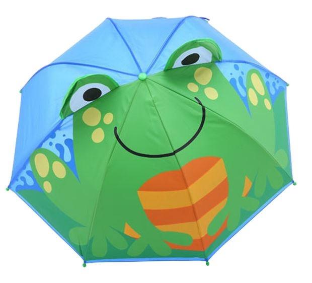 Детский 3D зонт-трость с мультяшными героями и зверушками - 7