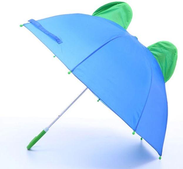 Детский 3D зонт-трость с мультяшными героями и зверушками - 10