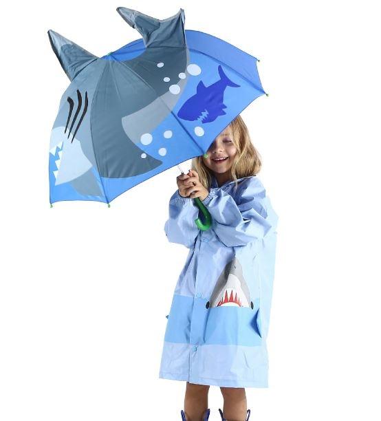Детский 3D зонт-трость с мультяшными героями и зверушками - 9
