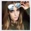 """Солнцезащитные поляризованные очки """"кошачий глаз"""" с металлическими бровями (в наличии черные глянец и золотое зеркало) - 1"""