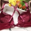 Кружевной комплект белья: бюстгальтер-планж спинка крестом и трусики на завязках  - 2