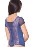 Женский трикотажно-кружевной боди с коротким рукавом и стрингами (в наличии коричневый  ХL) - 8