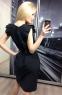 Летнее платье-миди с рукавами-крылышками и поясом (в наличии персиковое L 44\46) - 5