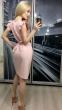 Летнее платье-миди с рукавами-крылышками и поясом (в наличии персиковое L 44\46) - 2