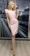 Летнее платье-миди с рукавами-крылышками и поясом (в наличии персиковое L 44\46) - 1