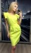 Летнее платье-миди с рукавами-крылышками и поясом (в наличии персиковое L 44\46) - 4