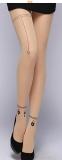 Нейлоновые телесные женские колготы с татуировкой (в наличии модель с последнего фото и 6, 13) - 16